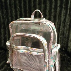 Luxury Vinyl Clear Unicorn Backpack NWT